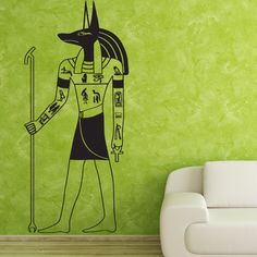 "Style and Apply Anubis Wall Decal Size: 99"" H x 37"" W, Color: White"