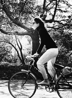 Celebrity Bike Style Jackie O.