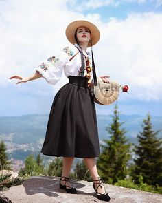 Honor to my slavic roots in the mountains around Sarajevo This is Bosnia and Herzegovina, I'm so proud ✨ The skirt is from… Idda Van Munster, Bosnia And Herzegovina, Ethnic Fashion, Pin Up Girls, Midi Skirt, High Waisted Skirt, Fashion Dresses, Vintage Fashion, Boho