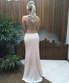 vestido de festa cropped