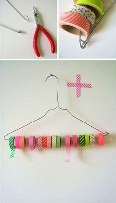 Geniale Aufbewahrungsidee für meine Washi Tape Sammlung Diy Clothes, Clothes Hanger, Washi Tape Storage, Ribbon Storage, Washi Tape Diy, Masking Tape, Craft Storage, Storage Ideas, Storage Solutions