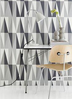 grey, white triangle, wallpaper