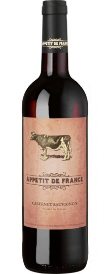 The vibrant Appétit de France range is immediately memorable, each label showing an animal that makes a brilliant food match for the wine in question - lobster for Sauvignon, salmon for Chardonnay, pork for Merlot and (here) beef for Cabernet.