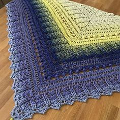 PDF Crochet Shawl Pattern Custard Cream