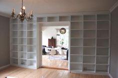 Bookshelve over door
