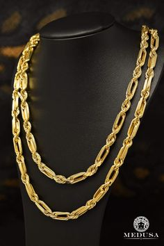 Chain in gold Mens Gold Bracelets, Mens Gold Jewelry, Gold Jewelry Simple, Jewelry Art, Man Jewelry, Jewlery, Gold Chain Design, Gold Jewellery Design, Beaded Necklace