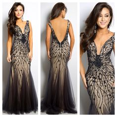 We are in love with this new gown by Jovani. Style 22495. Available in Charcoal, Black, Navy, Red and Turquoise.