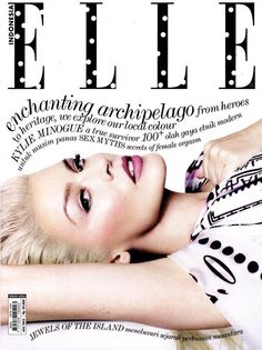 Kylie Minogue features on the cover of Elle Indonesia July 2013 - Rougeberry Fashion Magazine Vogue, Fashion Magazine Cover, Cool Magazine, Fashion Cover, Magazine Photos, Magazine Layouts, Fashion Art, Fashion Models, Fashion Brands