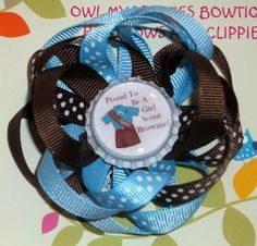 BROWNIE GIRL SCOUTS Loopy Flower Hair Clip by OwlMyPretties, $5.99