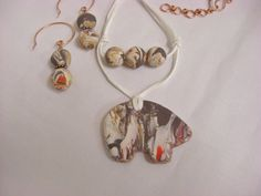 Reversible polymer clay bear fetish necklace with by 5DogsDesigns