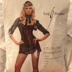 Black with Gold Mile High Attendant Costume Never been used Leg Avenue Other