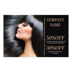 modern chic  beauty salon Hair Stylist Flyers