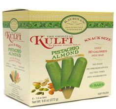 Currently Available at Union Markets in Brooklyn, NY - Pistachio Almond Kulfi by Kaurina's. creamier and richer than regular ice cream at only 80 calories a bar! All natural ingredients, no eggs, and no preservatives. Kulfi, Pistachio, Preserves, Brooklyn, Almond, Food And Drink, Ice Cream, Eggs, Snacks