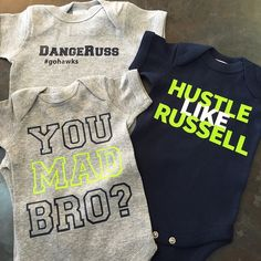 We <3 our Hawks! Adorable onesies and other seahawks gear for tiny fans!
