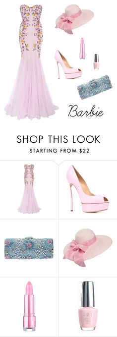 """""""Barbie spring"""" by mivaldal on Polyvore featuring Marchesa, Casadei and OPI"""