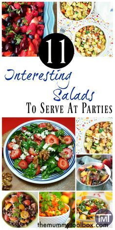 Interesting salads are hard to come by, particularly in BBQ season so here are some recipes to spruce up your salad bar and keep guests happy. Healthy Recipes On A Budget, Healthy Salad Recipes, Veggie Recipes, Real Food Recipes, Healthy Snacks, Easy Recipes, Cooking Recipes, Soup And Salad, Salad Bar