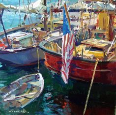 Just look at this Charles Movalli painting... WOW! Happy 4th!