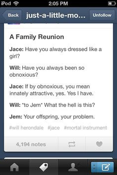 Will // Jace // The Mortal Instruments // Infernal Devices