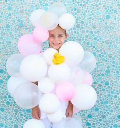 DIY bubble bath halloween costume / Habfürdő farsangi jelmez egyszerűen / Mindy