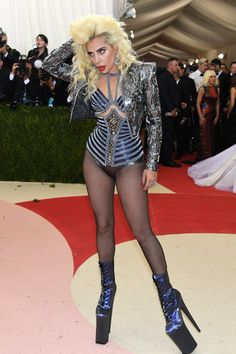 Lady Gaga in Versace - I'm so happy crazy Gaga is still around. I love elegant Gaga, but this is what I got hooked on back in '08.