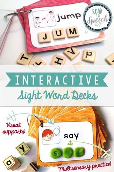 Check out these fun, engaging sight word decks! Perfect for literacy centers and interventions. Includes word lists sorted by speech sound for SLPs!