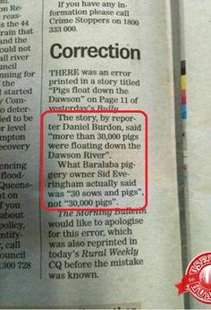 Those farmers sure do talk funny...or mabbee this reporter's listening 'skills' are the issue...