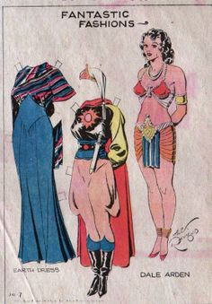1934 Flash Gordon Girl Friend Dale Arden Paper Doll