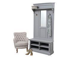Mobile ingresso in legno Arthur grigio - 100x200x35 cm