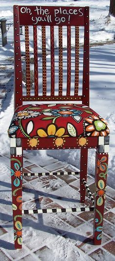 YES ~ Bar Stool/ Teacher's Chair Dr Seuss Inspired by WallaceWhimsies, $150.00