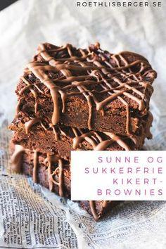 Sukkerfrie kikertbrownies fra Fanny Roethlisberger er en super sommerdessert | Sukkerfri dessert | Brownies oppskrift | Kake oppskrift | Sjokoladekake oppskrift | Sukrin | Hverdagsinspirasjon