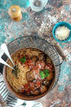 Shawarma Meatballs Spaghetti