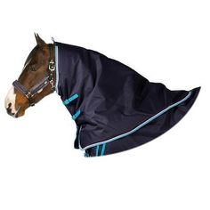 Horse Rugs Horse Riding - ALLWEATHER 300 Neck Cover DARK BLUE FOUGANZA - Horse Health