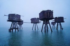Head down the river Thames through the city of London out into the Tideway and the estuary and you might stumble upon a weird eerie cluster of Second World War forts built eight miles offshore to defend London from bomb attack. I have always wanted to visit the Maunsell forts so I was excited to see them emerge out of the dawn gloom on a calm foggy morning like seven giant Star Wars creations.  I came by boat with the crew from Project Redsand the volunteer charity who care for these…
