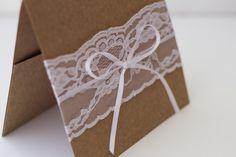 Papelaria Casamento Rústico | Festa, Papel e Tesoura | Wedding, invitation, rustic, kraft, lace, printable