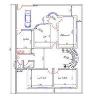 مخططات منازل صغيرة 150م House Floor Design, Iron Gate Design, Classic House Design, Architectural House Plans, Model House Plan, House Map, Family House Plans, Architecture Design, Floor Plans