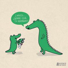 Zapatos de cocodrilo - Happy drawings :)