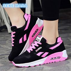 """HOT PRICES FROM ALI - Buy """"new 2017 Hot Sale Sport shoes woman Air cushion Running shoes for women Outdoor Summer Sneakers women Walking Jogging Trainers N"""" from category """"Sports & Entertainment"""" for only USD. Jogging, Athletic Women, Athletic Shoes, Summer Sneakers, Best Running Shoes, Black Leather Shoes, Outdoor Woman, Running Women, Woman Running"""