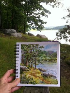Everyday Artist: Step-by-Step Watercolor: Lake Scene see step by step on her blog
