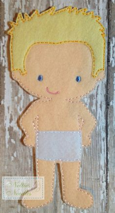 Felt Un Paper Simpson Doll by NettiesNeedlesToo on Etsy, $6.00