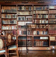 bookshelves in Girton college #library