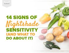 Nightshades are a common food group found in the Paleo diet. But for people with nightshade sensitivity, they come with an unpleasant set of side effects. Nightshade Vegetables List, Nightshade Free Recipes, List Of Vegetables, Veggies, Healthy Sweet Snacks, Heart Healthy Recipes, Paleo Recipes, Healthy Foods, Superfood Recipes