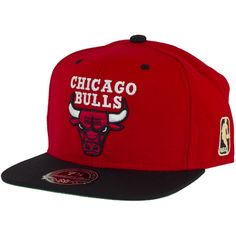 Mitchell & Ness Fitted Cap Chicago Bulls red/black ★★★★★
