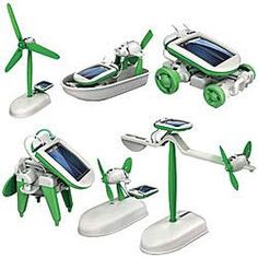 6 In 1 Solar Powered Robots Kit