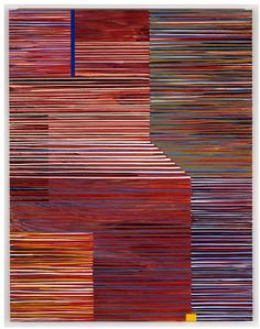 Jun Kaneko,19 / 27 Untitled from Maine series, Painting, 1999 Acrylic on canvas | 65h x 84w x 2d in