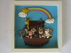 Arche Noah Bild 3 D 3d, Baby, Home Decor, Painted Canvas, Fimo, Decoration Home, Room Decor, Baby Humor, Home Interior Design