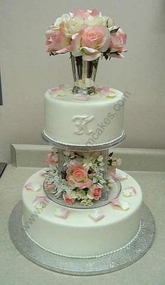 1000 Images About Pillar Wedding Cakes On Pinterest