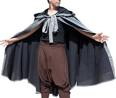 New Trending Outerwear: RaanPahMuang Two Layer Hobbit Cloak with Hood in Stonewashed Renaissance Cotton, Large, Grey on Black. RaanPahMuang Two Layer Hobbit Cloak with Hood in Stonewashed Renaissance Cotton, Large, Grey on Black  Special Offer: $84.37  177 Reviews Genuine high quality Raan Pah Muang brand product, hand made in Thailand under Fair Trade conditions. We take care of attention to detail to ensure...