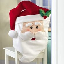 1 PCS Santa Chaise Couvre 74*44 CM Claus Natal Navidad Intérieur De Noël De Noël Nouvel An Décorations Accueil Ornement cuisine Dîner
