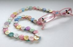 Eyeglass Chain in Vintage Buttons - Pastels by MRSButtons on Etsy