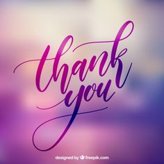 Thank you lettering with blurred background Free Vector Thank You For Birthday Wishes, Thank You Wishes, Cute Thank You Cards, Thank You Messages, Thank You Letter, Thank U, Thank You Gifs, Thank You Pictures, Thank You Images